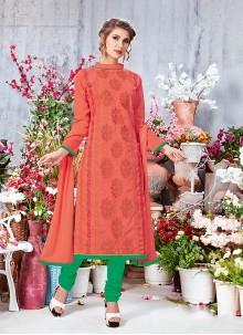 Mauve  Cotton Salwar Suit
