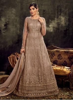 Mauve  Designer Floor Length Salwar Suit