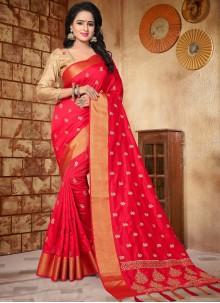 Mesmeric Art Silk Embroidered Work Traditional Designer Saree