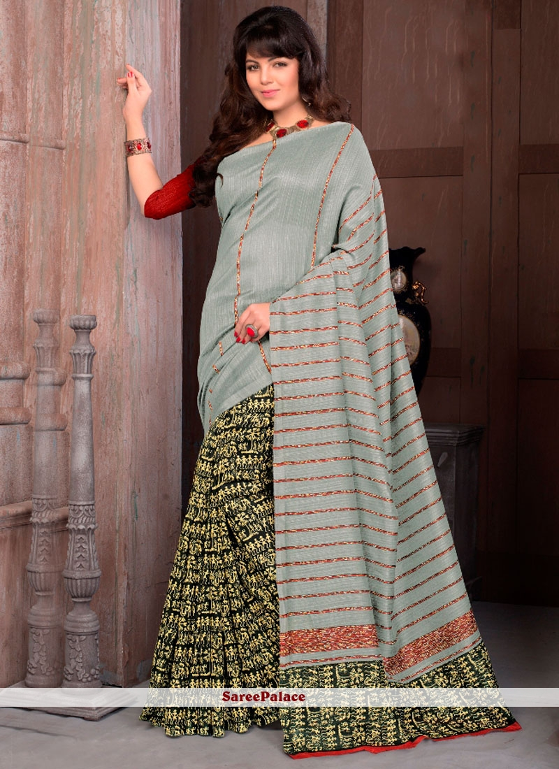 Miraculous Cotton   Printed Saree