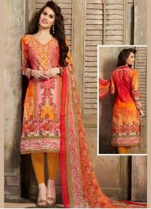 Mirror Cotton Churidar Suit