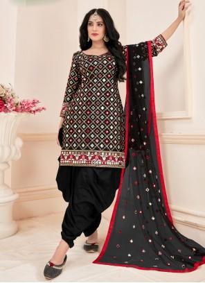 Black Mirror Cotton Designer Suit
