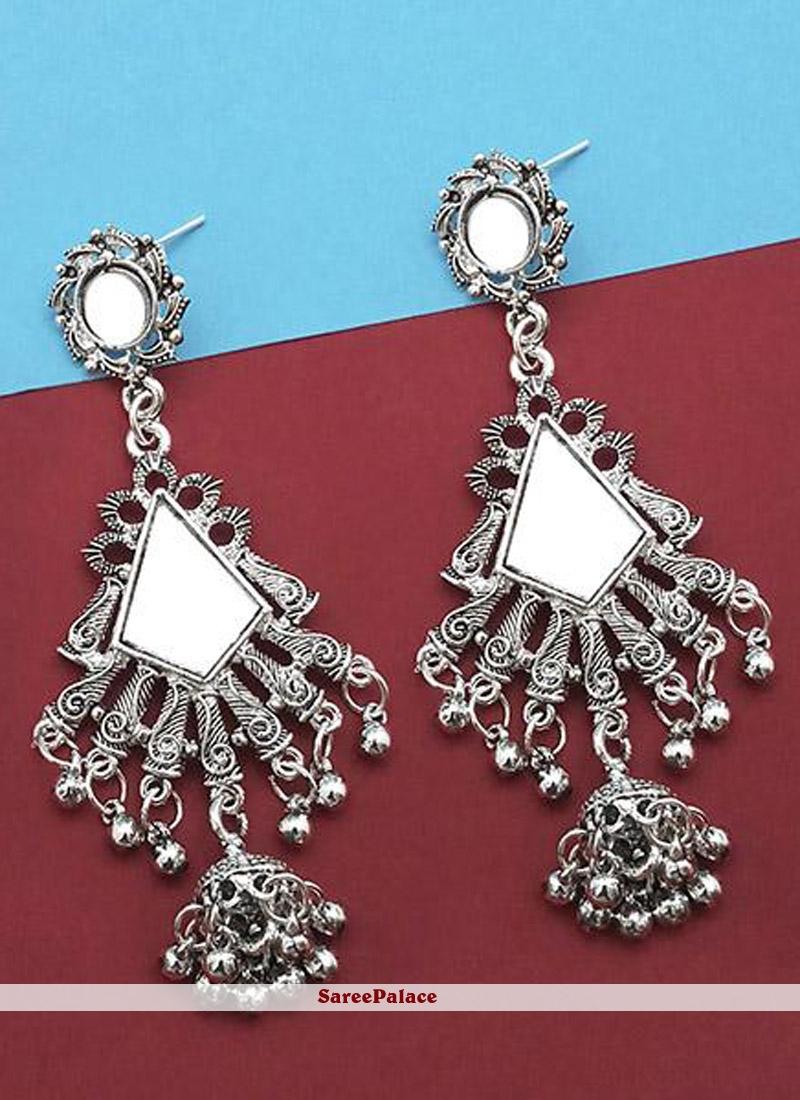Mirror Ear Rings in Silver