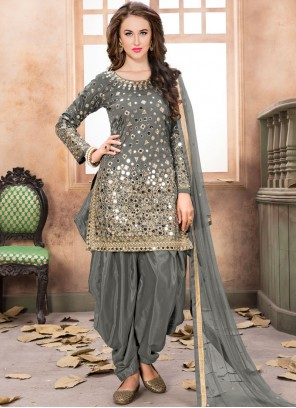 Mirror Reception Designer Patila Salwar Suit