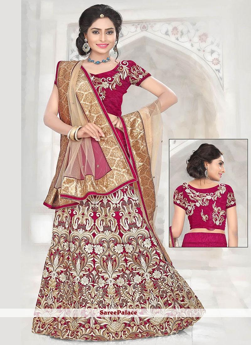 Mod Resham Work Bhagalpuri Silk Lehenga Choli