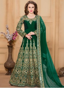 Mod Tafeta silk Designer Floor Length Suit
