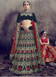 Mod Velvet Lehenga Choli