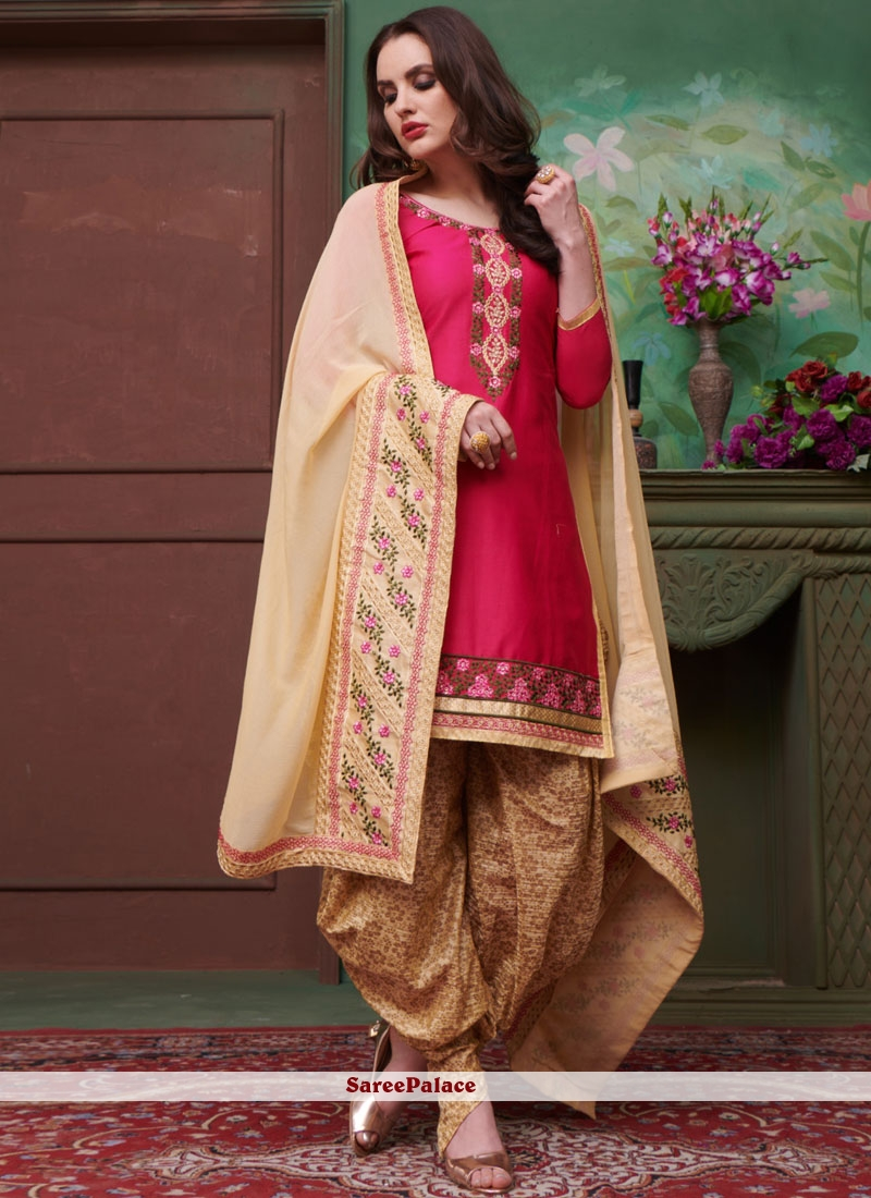 e6483a908f Buy Modernistic Embroidered Work Cotton Punjabi Suit Online