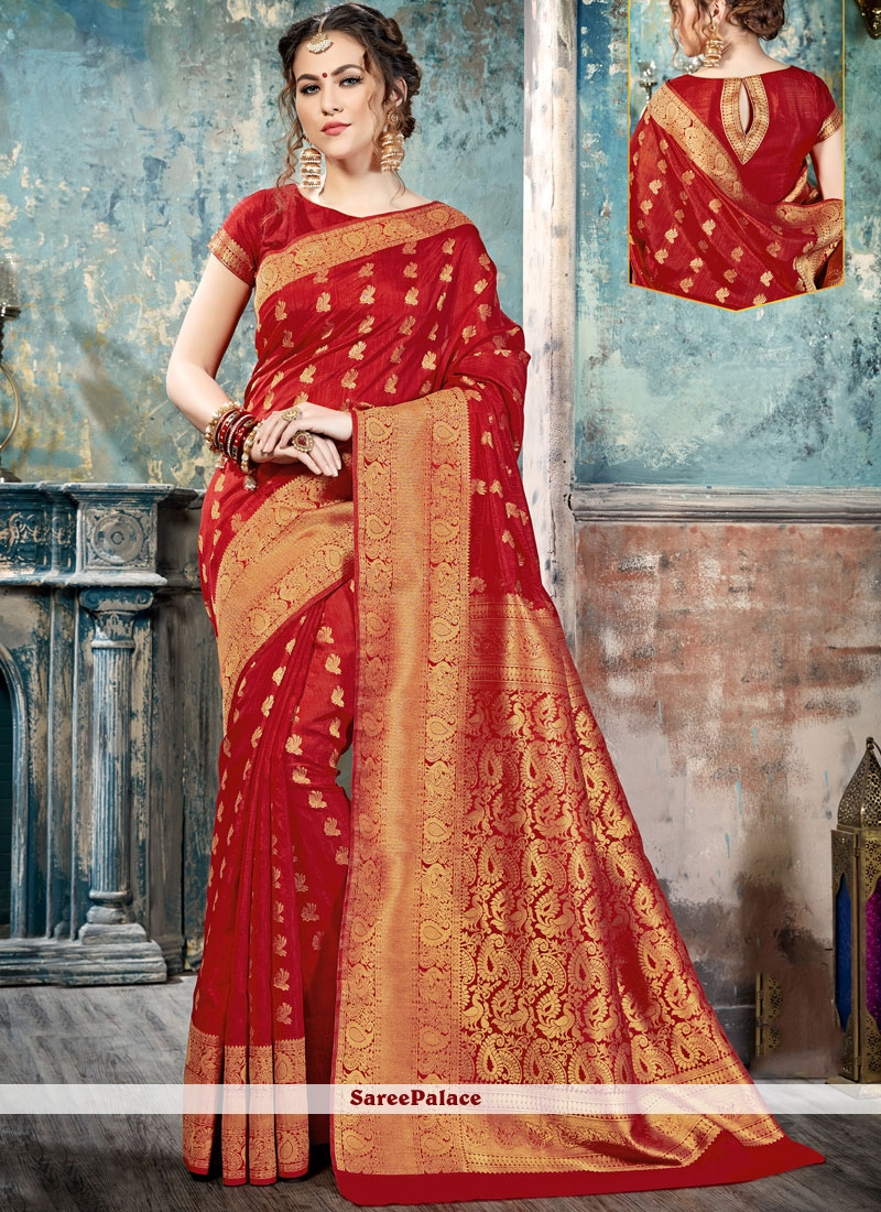 Modernistic Silk Abstract Print Work Traditional  Saree