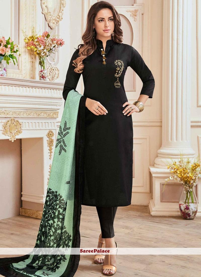 5f500d0eccb976 Buy Modest Black Churidar Suit Online