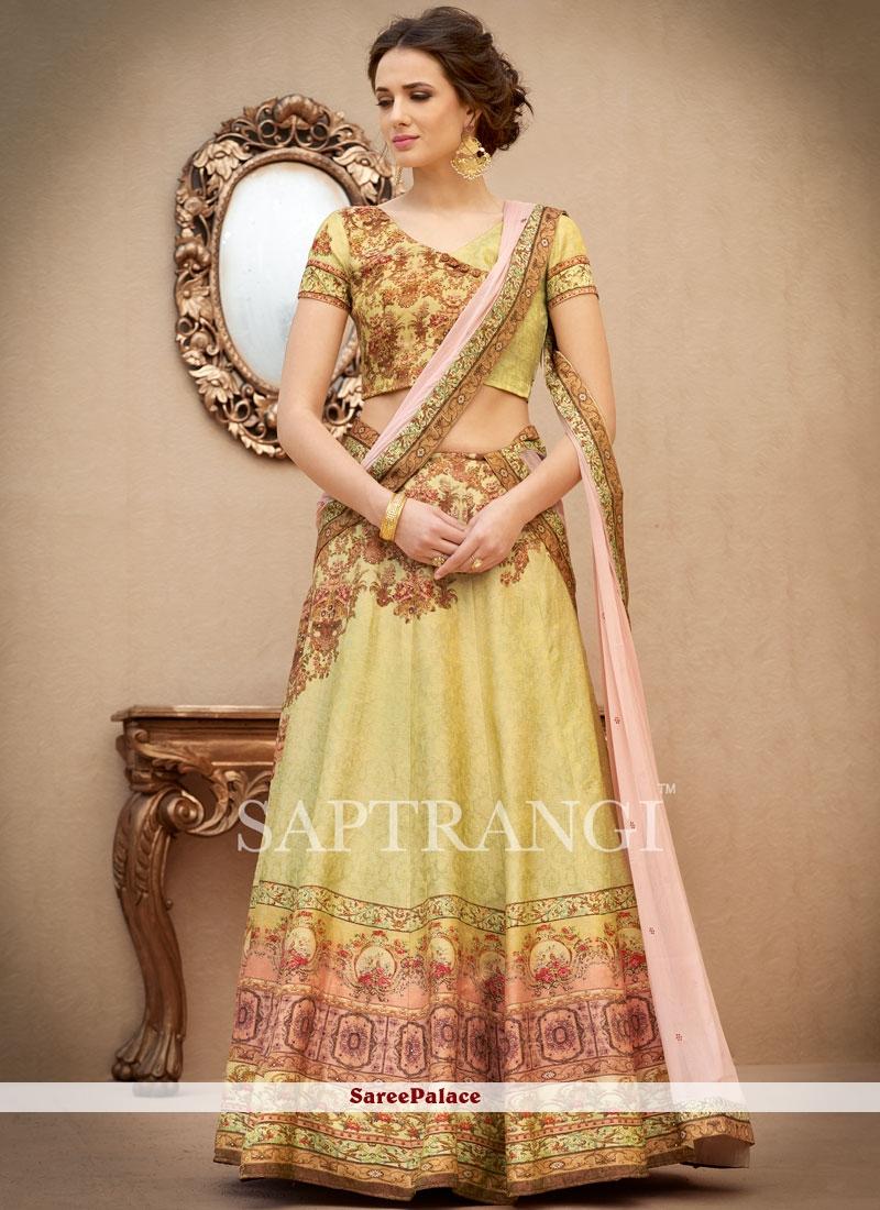 Modest Multi Colour Art Silk Lehenga Choli
