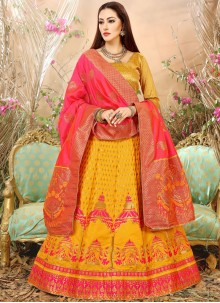 Modest Weaving Work Lehenga Choli