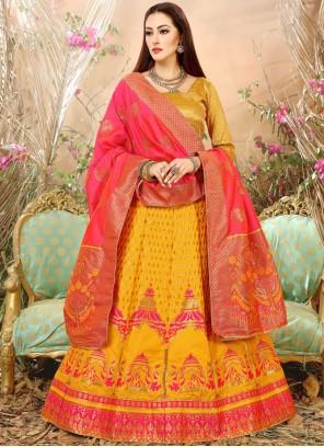 Modest Weaving Work Lehenga Choli
