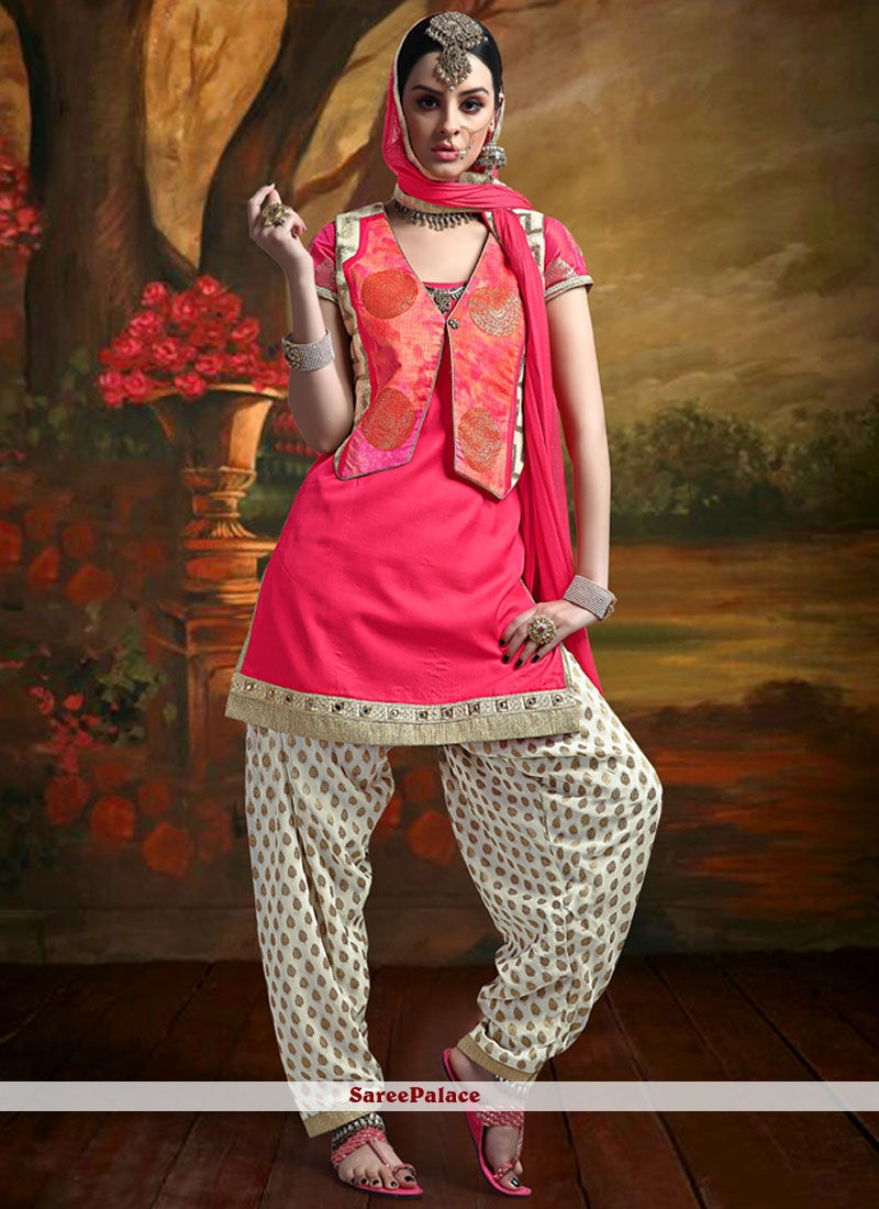 Modish Patch Border Work Readymade Suit