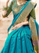 Monumental Cotton Silk woven Work Traditional  Saree