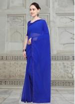 Moti Fancy Fabric Casual Saree in Blue