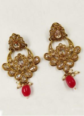 Moti Gold Ear Rings