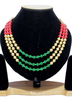 Moti Gold Necklace Set