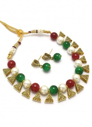 Moti Multi Colour Necklace Set