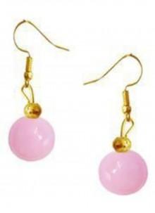 Moti Pink Ear Rings