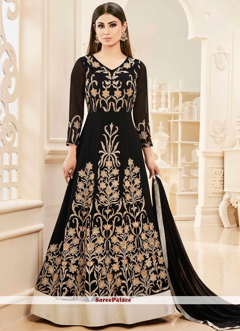 2d632962b6e Buy Mouni Roy Embroidered Work Faux Georgette Floor Length Anarkali Salwar  Suit Online