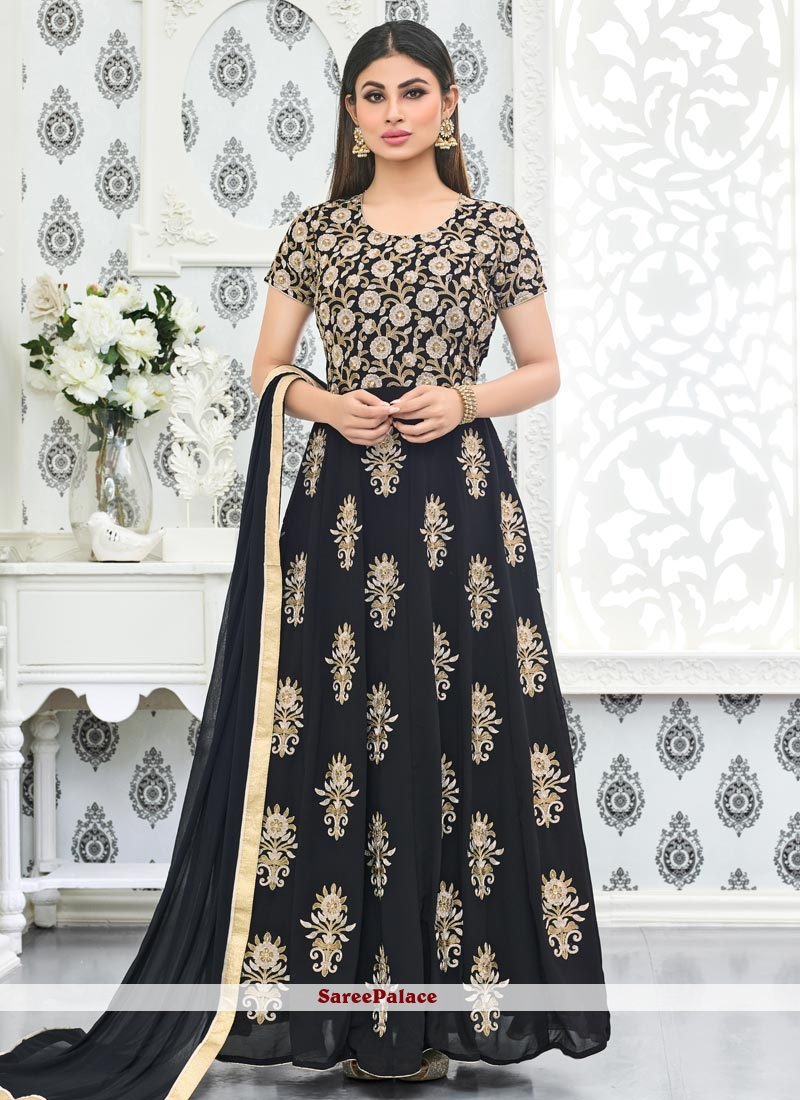 Mouni Roy Stone Work Floor Length Anarkali Suit