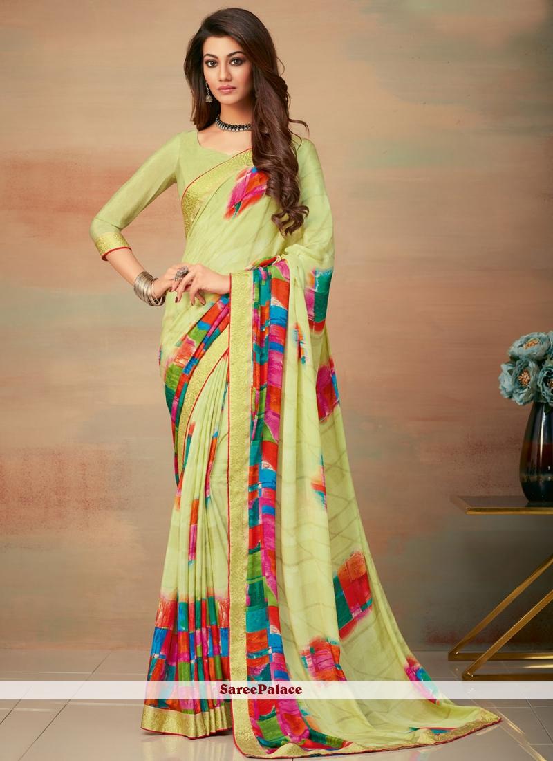 Multi Colour Abstract Print Saree