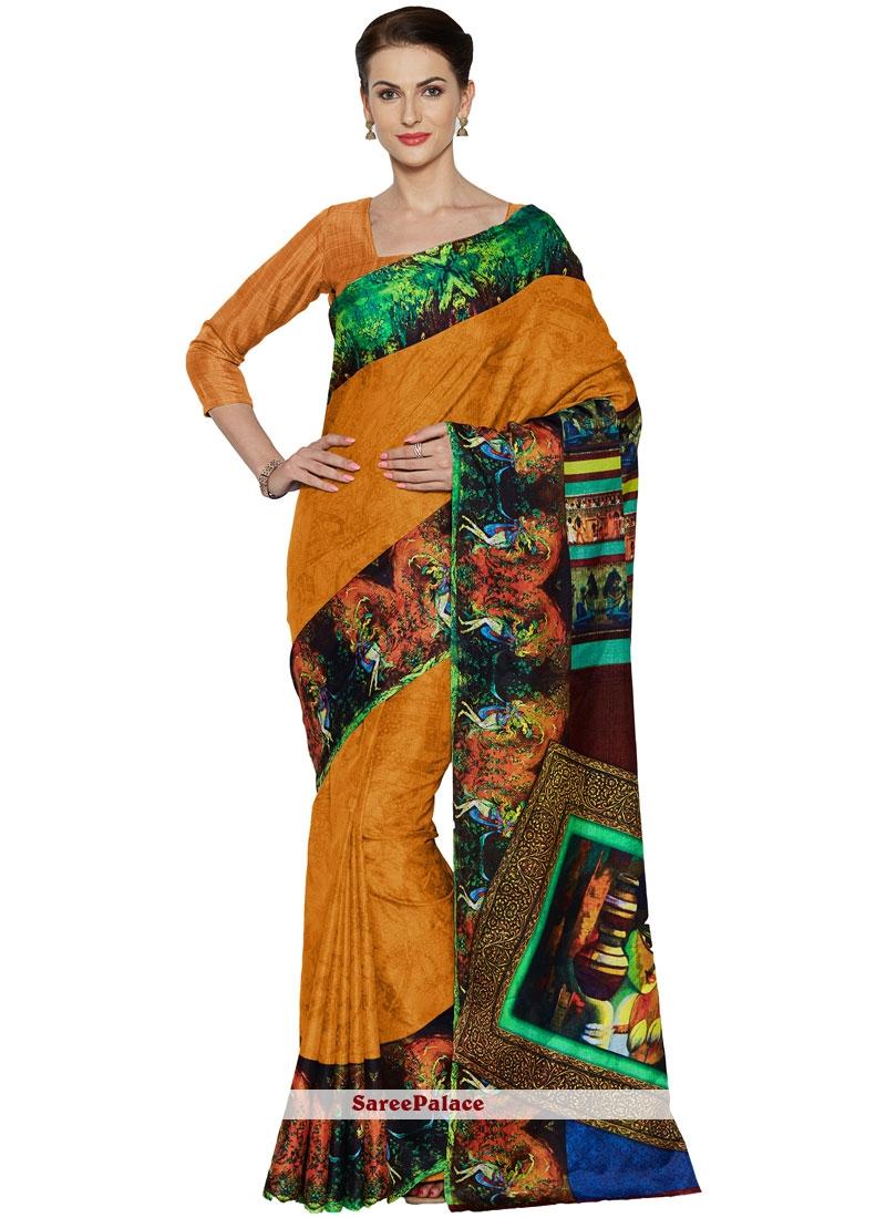 Multi Colour Art Silk Casual Casual Saree