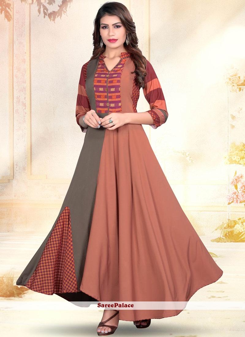 8bbf514394 Buy Multi Colour Art Silk Designer Gown Online