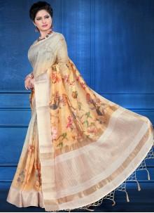Multi Colour Art Silk Digital Print Printed Saree