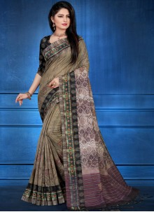 Multi Colour Art Silk Festival Printed Saree