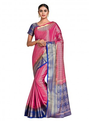 Multi Colour Art Silk Party Designer Traditional Saree