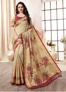Multi Colour Art Silk Printed Saree