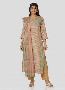 Multi Colour Art Silk Salwar Suit