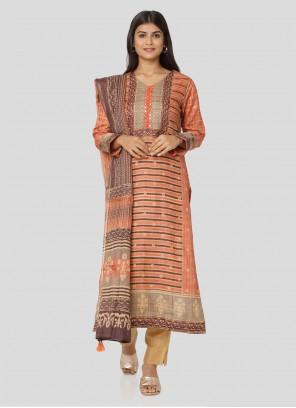 Multi Colour Art Silk Sangeet Salwar Suit