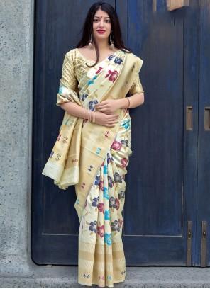Multi Colour Art Silk Traditional Saree