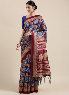 Multi Colour Art Silk Trendy Saree