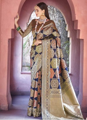 Multi Colour Art Silk Weaving Designer Traditional Saree
