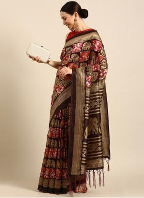 Multi Colour Art Silk Weaving Trendy Saree