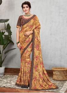 Multi Colour Art Silk Wedding Traditional Designer Saree