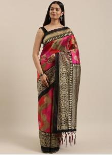 Multi Colour Art Silk Woven Casual Saree