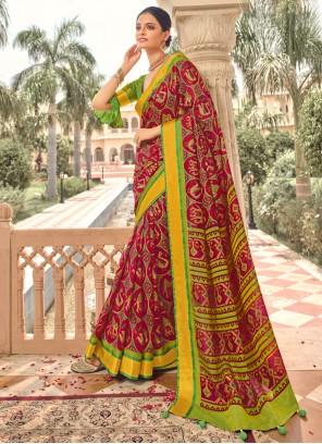 Multi Colour Brasso Designer Traditional Saree