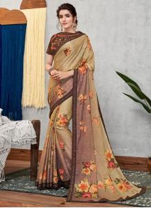 Multi Colour Bridal Faux Georgette Designer Traditional Saree