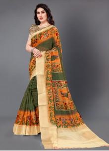 Multi Colour Casual Classic Saree