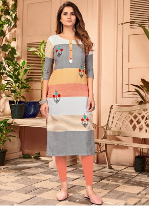 Multi Colour Casual Designer Kurti