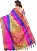 Multi Colour Casual Poly Cotton Casual Saree