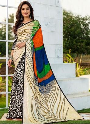 Multi Colour Casual Silk Saree