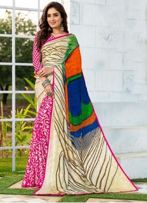 Multi Colour Casual Silk Printed Saree