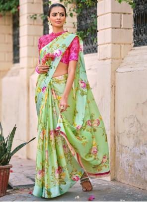 Multi Colour Satin Casual Traditional Saree