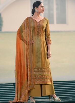 Multi Colour Ceremonial Designer Palazzo Suit